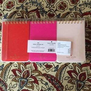 kate spade Office - Kate Spade Spiral Lined NotePads
